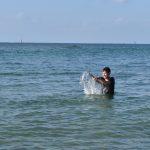 12月に海で泳いだよ!